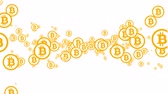 Electronic bitcoin. Bitcoin inside the network. Crypto currency. Stock Footage