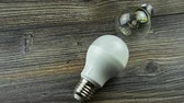 incandescente : Led light bulb filament and. Stock Footage