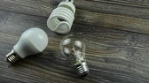 Energy-saving lamp. LED light bulbs, incandescent bulb, energy saving light bulb.