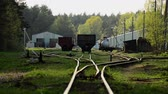 депо : Railroad tracks. Depot wagons. Old rails.