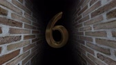 hodina : Countdown to the event. The numbers are in order of turn. Mysterious account. Number 6