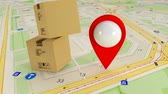 orientamento : Destination on the map. Search by satellite gps. Many gps signals Filmati Stock