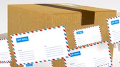 adres : Delivery of correspondence worldwide. Mail and parcel delivery. Wideo