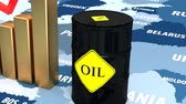 obrazy olejne : Oil in Europe. Barrel of oil in the stock market. Market Trades. Wideo