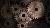 шестерня : Old rusty gear mechanism. The concept of reliability of the mechanism. Teamwork.