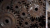 açoitado : Old classical music. The mechanism for writing music. Gears of the symphony orchestra. Stock Footage