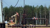 pumpjack : Pipe or tube from the Pump Jack on an oil well in Russia