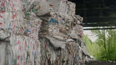 utilization : packed trash of polyethylene in recycling factory