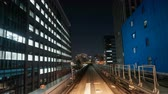 evening : Timelapse of automated transit service in Tokyo, Japan. Stock Footage
