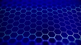 Abstract blue beautiful octagon background. Technologically. Filmati Stock