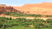 kasbah : Ait benhaddou fortified city in morocco