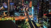 city lights : Bangkok traffic at night (Timelapse)