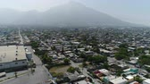 Tracking over a residential area on Monterrey Mexico