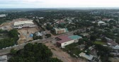 An aerial shot of a business area of Kitwe in Zambia