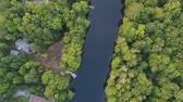 A view of the Muskoka RIver from 400 feet in the Summer Stock Footage