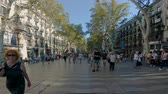 View of Catalonia Square. Catalonia square (or Plaza Catalunya) is considered the city centre of Barcelona.