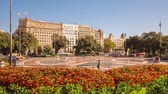 Timelapse of Catalonia Square. Catalonia square (or Plaza Catalunya) is considered the city centre of Barcelona.