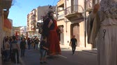 Alcover, Spain. October 2017: Giants and large heads , traditional festival in catalonia.