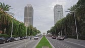 Barcelona, Spain. Oct.19: Twin towers Torre Mapfre and Hotel Arts in Port Olimpic. Barcelona, Spain, Europe.