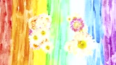 watercolor : Abstract background with beautiful flowers, perform watercolor with space for text