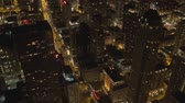 Иллинойс : View of Night City From a Height, Nice View of Night Chicago Стоковые видеозаписи