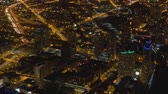 chicago : View of Night City From a Height, Nice View of Night Chicago Stock Footage