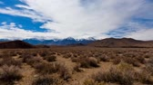 eastern sierra : View of The Desert And Mountains in California Stock Footage
