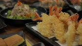 deep sea shrimps : Ebi Tempura. Crunchy Deep fried shrimps in Japanese Cuisine style