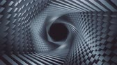 karbon : Complex morphing shapes tunnel background loop