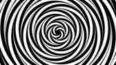 Optical monochrome rotating spiers background loop