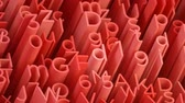 colagem : Random 3d red letters and numbers animated background