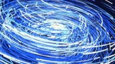 patron abstracto : Rotating swirl formed by white and blue lines