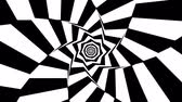 patron abstracto : Rotating geometric black and white background loop
