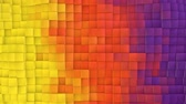 geometryczne : Yellow to purple Gradient evolving cubes wall loop