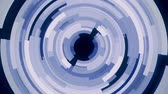 Rotating complex blue slices circle background loop Dostupné videozáznamy