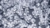 Shiny diamonds flowing on an iron background 3d render