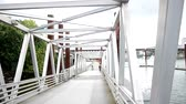 denmark : Bridge for Bicycles and  Pedestrian Stock Footage