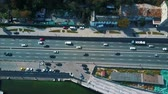 ônibus : Aerial view from a drone on the highway