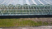 forcing : Aerial video of greenhouses Stock Footage