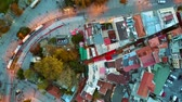 economia : Aerial rooftop view city