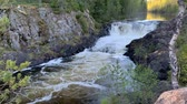 threshold : Waterfall at high water time in Karelia, Russia