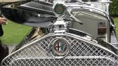 chassis : Detail of of old classic Alfa Romeo at the Concorso dEleganza at Villa dEste, Cernobbio, Italy Stock Footage