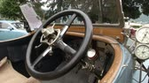 chassis : Steering wheel of old classic car at the Concorso dEleganza at Villa dEste, Cernobbio, Italy