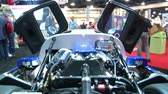 prototype : Luxurious super car engine exhibited at Miami International Boat Show