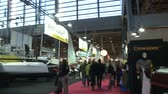 navigation : People attend Paris Boat Show, the most important Italian exposition of boats on December 7, 2013 in Paris, France Stock Footage