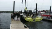 navigation : Brunel team leaves for the docks in port race During the Volvo Ocean Race in Newport bay on May 16, 2015 in Newport, RI, USA
