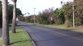 maritime territory : Small empty road in Bermuda Stock Footage