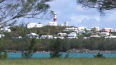 maritime territory : Lighthouse of the small town of St. George, Bermuda Stock Footage