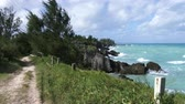 maritime territory : Choppy sea in Bermuda, During storm on a windy day