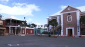 maritime territory : Town hall square of the small town of St. George, Bermuda Stock Footage